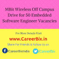 MBit Wireless Off Campus Drive for 50 Embedded Software Engineer Vacancies