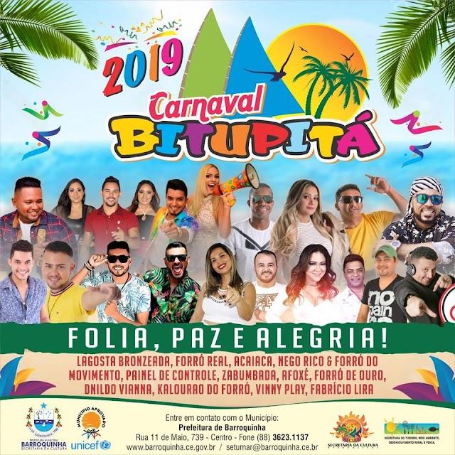 Atrações do carnaval de Bitupitá são divulgadas