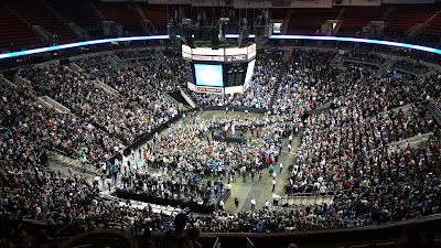 Bernie Sanders at Key Arena in Seattle, Washington
