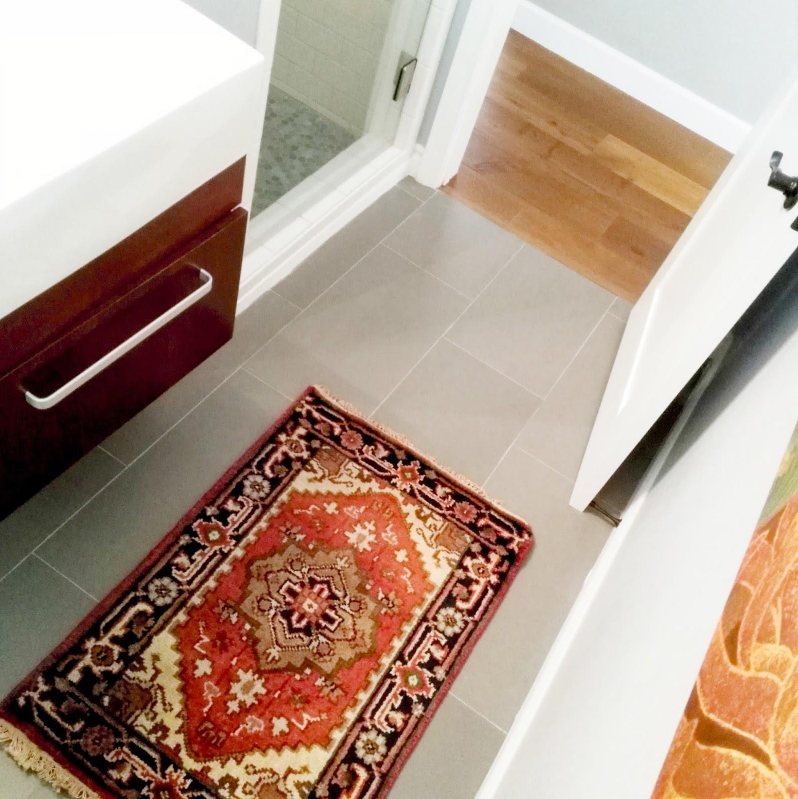 guest bathroom interior decorating home decor turkish oriental area rug