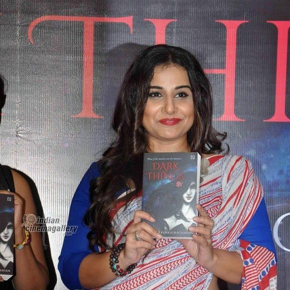 Vidya balan latest photos from Dark Things Novel launch
