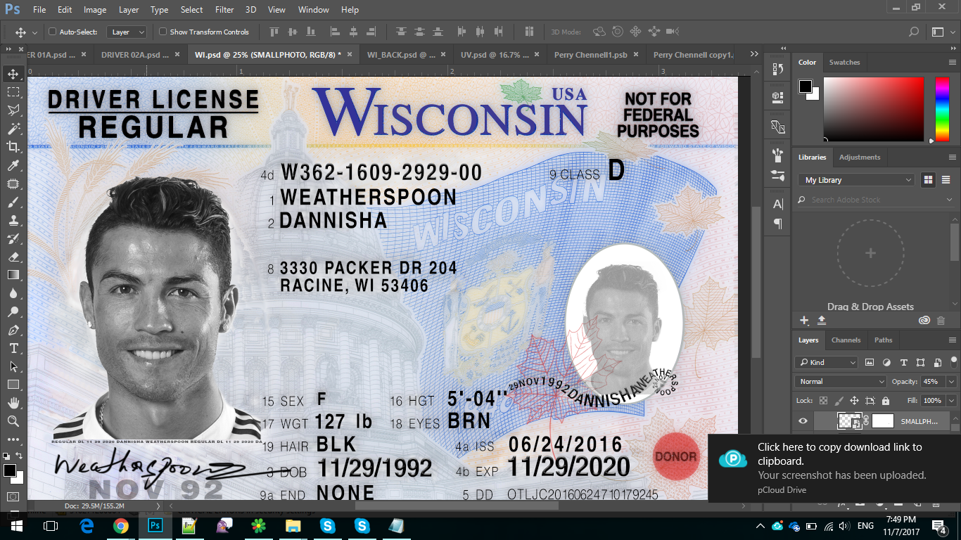 ontario drivers license template photoshop