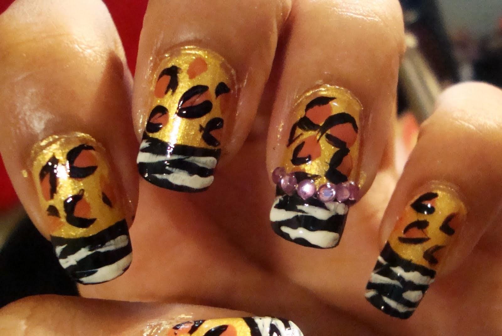 Good Cheetah Print Nail Designs Best   Nail Art Ideas 101