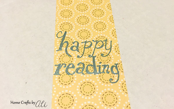 Cute embellishements for a fun personalized bookmark