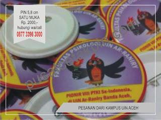 cetak pin murah di jogja order dari UIN ACEH