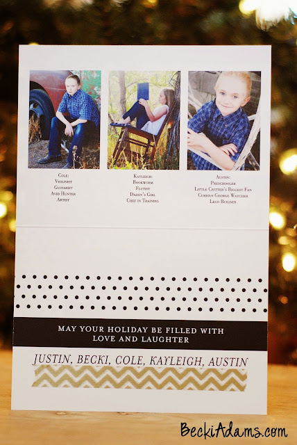 Personalized Christmas cards by Becki Adams @jbckadams #christmascards #personalizedChristmascards #TinyPrints