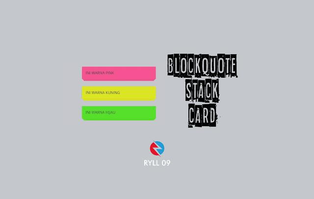 Cara Membuat Blockquote Style Card Stack