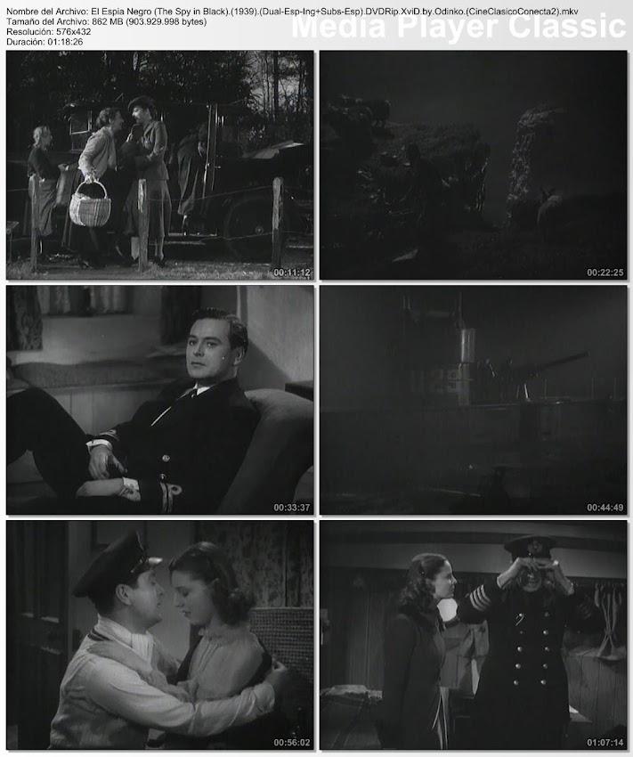 Capturas de pantalla: El espía negro | 1939 | The Spy in Black