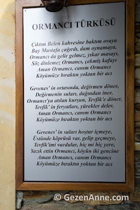 Ormancı türküsünün sözleri, Belen kahvesi Muğla