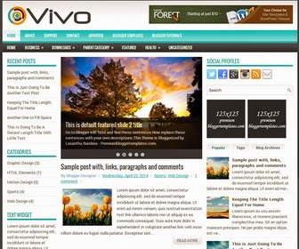 Vivo Responsive Blogger Template