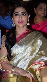 Actress Shriya Saran New Images in Silk Saree at Gautamiputra Satakarni Audio Launch  0023.jpg