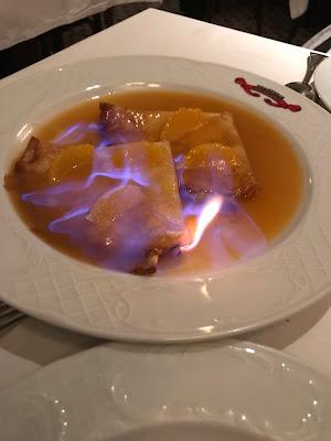 Brasserie Gavroche, crepe suzette