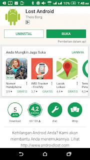 Tutorial Cara Memantau Handphone orang lain dari jarak jauh menggunakan aplikasi gratis Android Lost