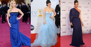 modelos de vestido de festa azul