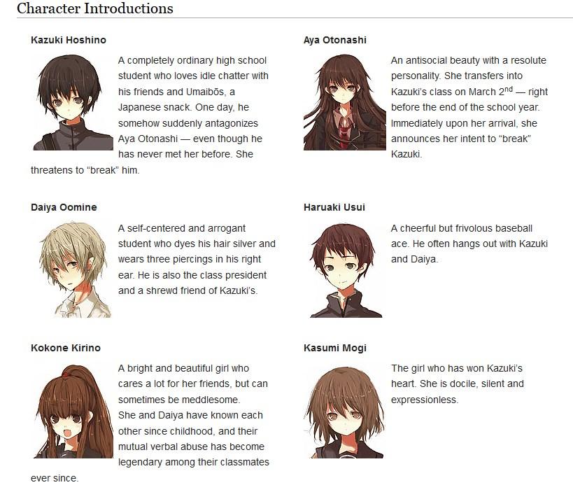 hakomari characters