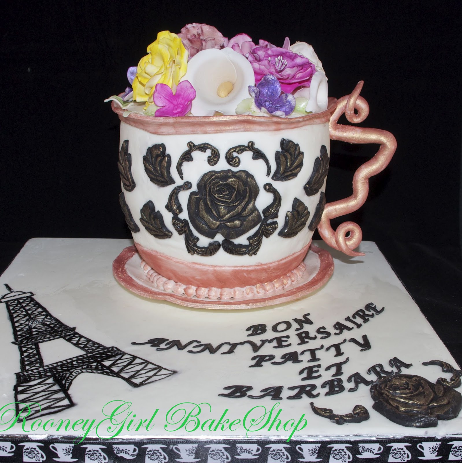 RooneyGirl Cupcakes: Starting from Scratch: Paris Teacup Cake