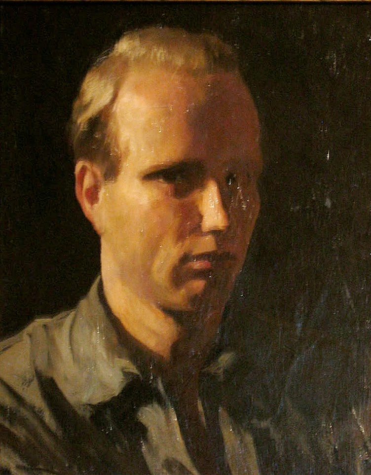Rockwell Kent, Self Portrait, Portraits of Painters, Fine arts, Portraits of painters blog, Paintings of Rockwell Kent, Painter Rockwell Kent