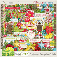 Kit : Christmas Everyday Collab by Key Lime Digi Design,Pretty In Green