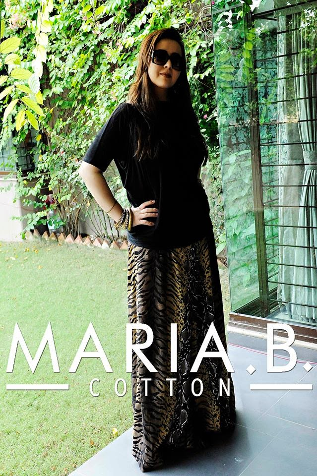 Maria B. Shaded Cotton Designer Plazo