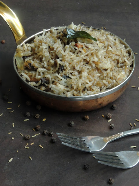 Mushroom pepper rice