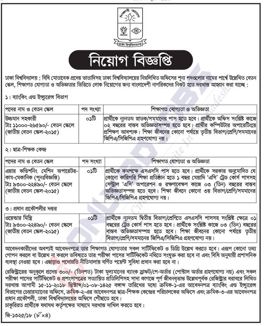 Dhaka University job