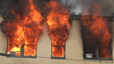 حريق مدرسة بمدينة نصر, تصادم اتوبيسين, طريق بور سعيد,