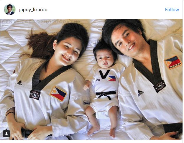 Japoy Lizardo With His Wife And His Son Are So Adorable Wearing Taekwondo Uniforms! Must See!