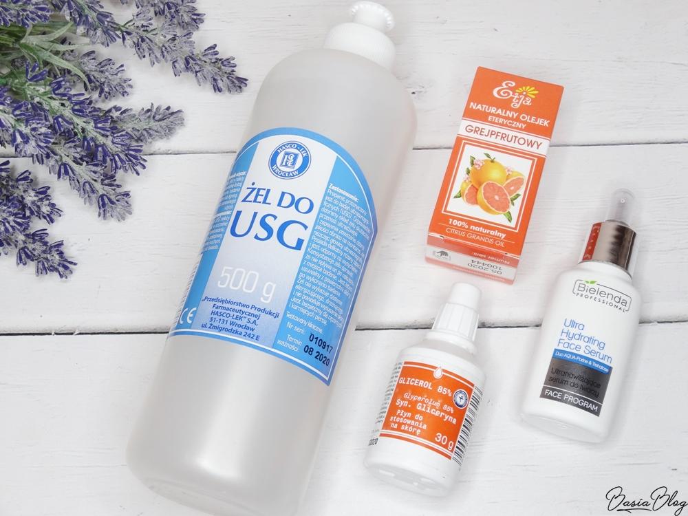 Bielenda serum ultranawilżające, żel do usg, olejek grejpfrutowy, glicerol