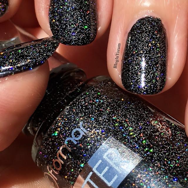 flormar glitter gl10 blackstar oje