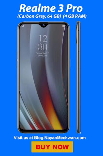 Realme 3 Pro (Carbon Grey, 64 GB)  (4 GB RAM) from Flipkart