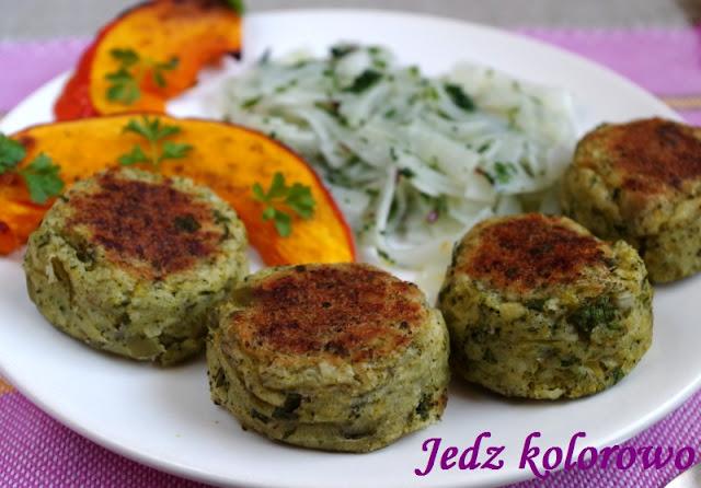 pieczone klopsiki ziemniaczano-brokułowe - wegańskie, dieta antyhistaminowa, nietolerancja histaminy
