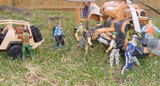 1991 Super Sonic Fighters Falcon, Chinese Flint, 1991 Snake Eyes, 1986 Tomahawk, 1990 Skydive, Sky Patrol, 2001 Desert Striker, 1994 Action Pilot, 30th Anniversary