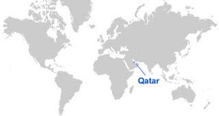 Gambar Peta letak Qatar