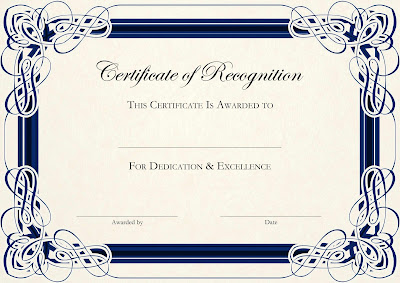 Blank Certificate Templates For Recognition Trasg