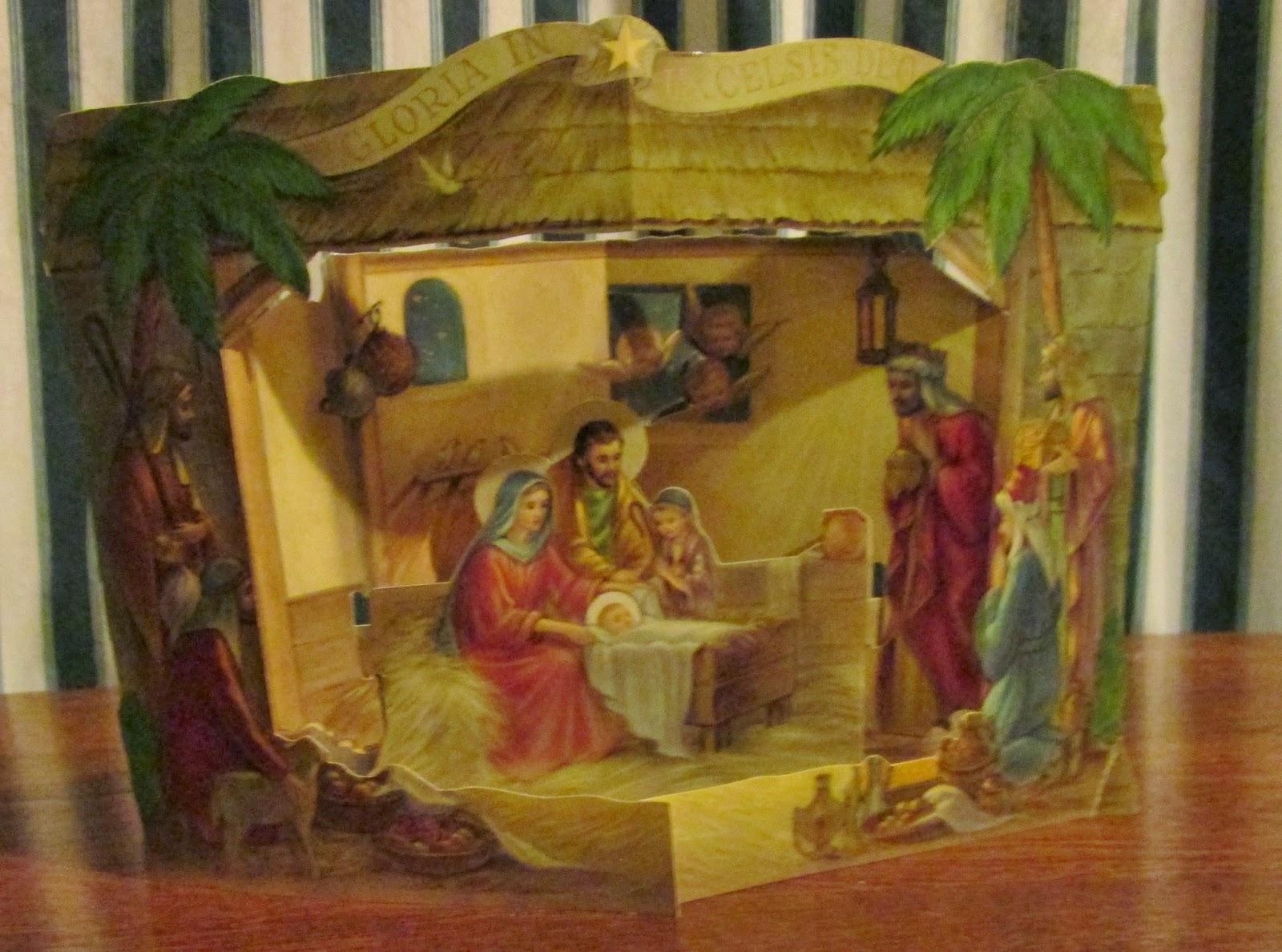 The Estate Sale Chronicles The Vintage Paper Nativity Scenes