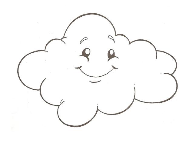 Desenhos E Moldes De Nuvem Para Pintar Colorir Imprimir