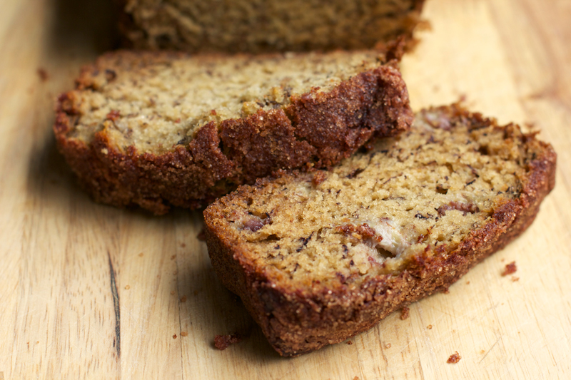 Cinnamon-Sugar Crusted Banana Bread || A Less Processed Life