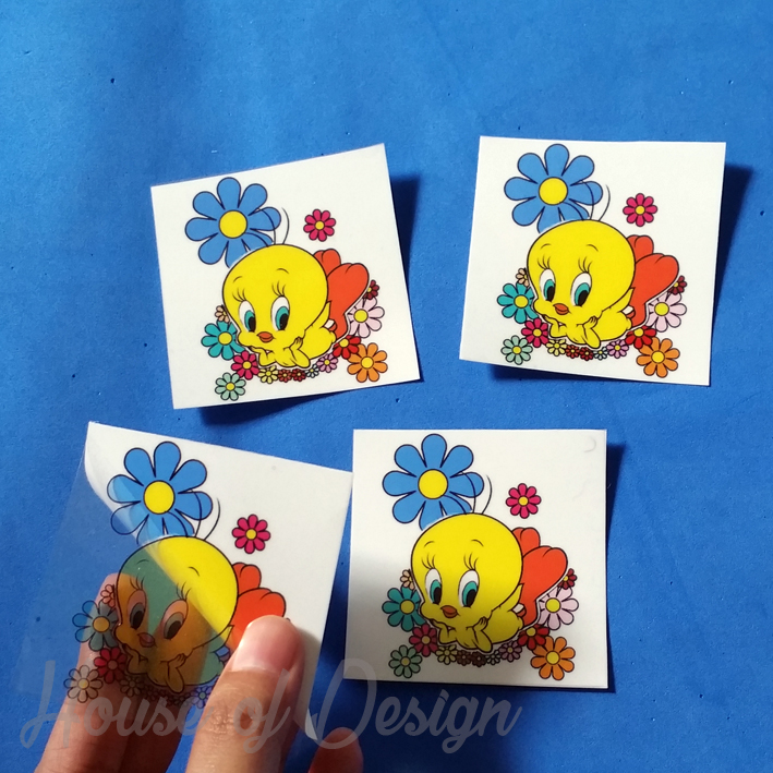 STICKER TRANSPARAN KARTUN TWEETY CUSTOM