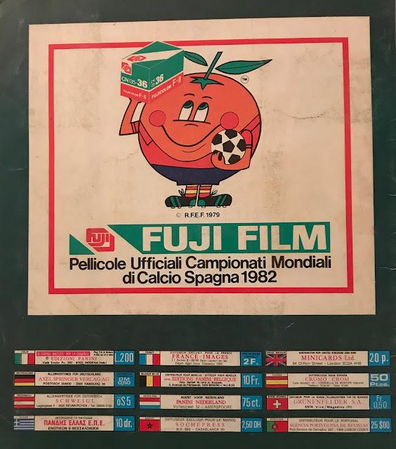 Copertina Spagna '82 Album mondiali