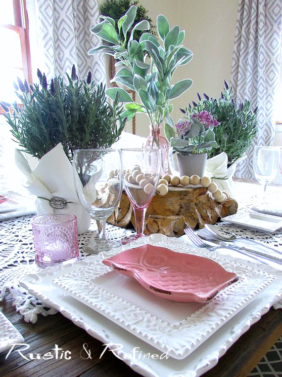 Tablecape Ideas for Winter - Pretty Pinks and Purples to get rid of the Blues.