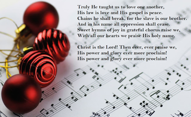 "He loved O Holy Night vibrant message of hope and the grand, soaring score, especially the verse that says ""Chains shall He break, for the slave is our brother, and in His name all oppression shall cease."""