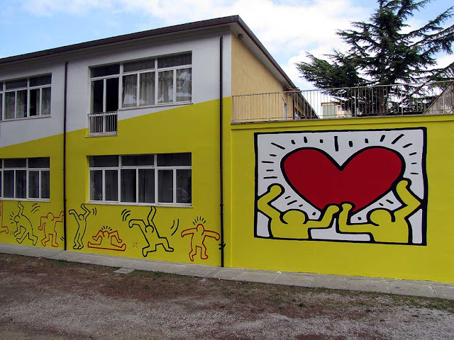 Keith Haring mural, Colombo Institute, Livorno