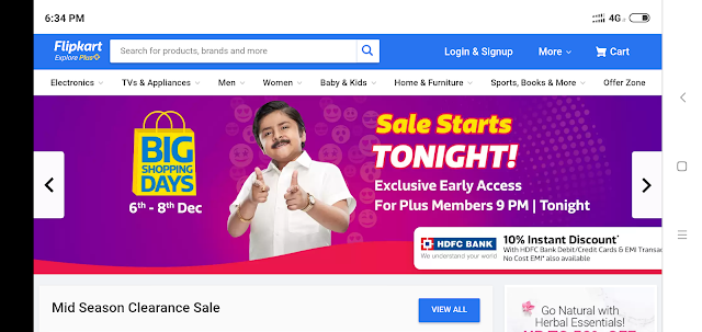 Flipkart big shopping day Sale Start next day what is the offer in what item