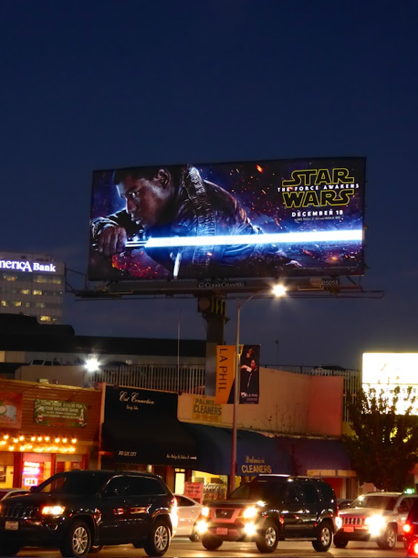 Finn Lightsaber Star Wars Force Awakens billboard