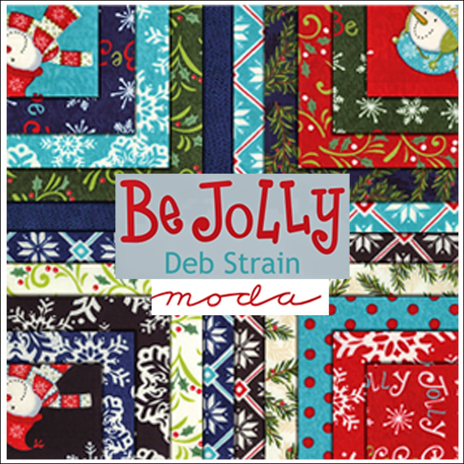 Moda BE JOLLY Christmas Quilt Fabric by Deb Strain for Moda Fabrics