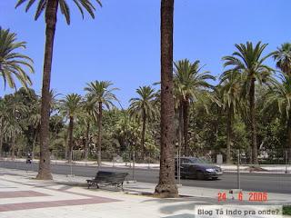 Paseo del Parque em Málaga
