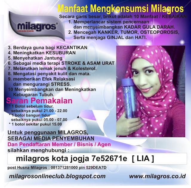 Air Kesehatan MIlagros | Agen Milagros Bekasi | WhatsApp 081327570786
