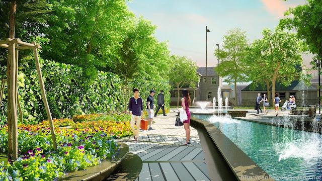 Khuôn viên xanh dạo bộ tại dự án 82 Nguyễn Tuân