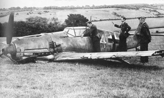 Bf109E shot down Britain worldwartwo.filminspector.com