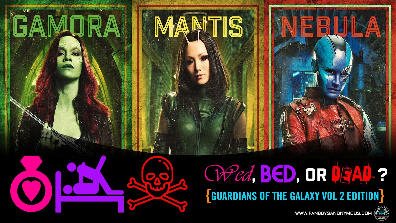 Marry Fuck Kill Guardians of the Galaxy Vol 2 who would you bang kill marry